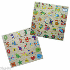 Wooden Floor Jigsaw Puzzle Choose Alphabet or Numbers Learning Pre School Toy