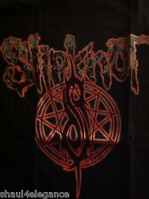 Slipknot Logo 100% Cotton Shirt Heavy Metal Rock Band Silkscreen Black