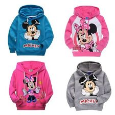 Cartoon Mickey/Minnie Mouse Boys Girls Hoodies Sweartshirts Kids Clothing 2-7Y