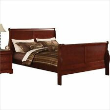 ACME Furniture Louis Philippe III Sleigh Panel Cherry Bed