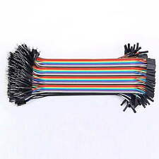 40PCS Jumper Wire Cable 1P-1P 2.54mm 20cm For Arduino Breadboard Sale New M2