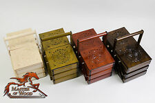 Wooden Sewing / Jewellery Boxes Sculpted Design Hand Crafted 4 Colors !!!