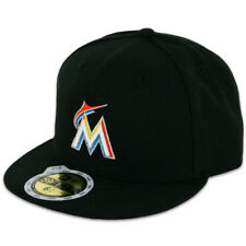 New Era 59FIFTY Fitted MLB AC YOUTH On Field Miami Marlins Home Cap