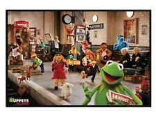 New Gloss Black Framed The Muppets Most Wanted Cast Poster