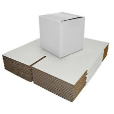 Single Wall White Postal Packing Cardboard Boxes Mailing Packaging Cartons