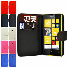 PU LEATHER BOOK WALLET CASE COVER FOR NOKIA LUMIA N800
