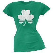 Sporty Shamrock Kelly Green Soft Juniors T-Shirt