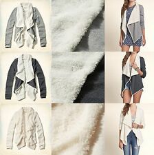 NWT HOLLISTER by ABERCROMBIE WOMEN'S Pebbly Beach Sherpa Lined Cardigan Jacket