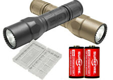 Surefire G2X Pro LED Flashlight BLACK or TAN + 2 Extra CR123A Batteries + Case