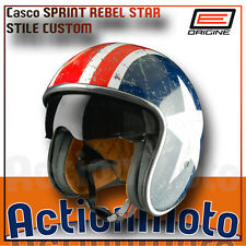 Casco Jet Origine Helmet Moto Scooter Sprint Rebel Star Custom Visierino Fume'