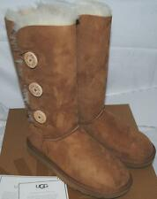 NEW UGG AUSTRALIA BAILEY BUTTON TRIPLET CHESTNUT WOMENS BOOTS AUTHENTIC 1873