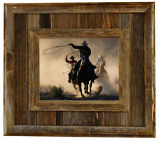 Salvaged Reclaimed Barnwood Picture Frame--Durango Rustic