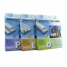 Draught Excluder Self Adhesive Rubber Door Window Seal Strip Roll BLACK GREY
