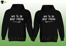 Couple Hoodie  She is My Best Friend BFF with Arrows Best friend Sweater Hoodie