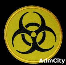 Warning Biohazard Danger Nuclear Iron on / Sew on Embroidered Badge Patch Sewing