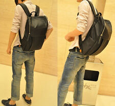 korea Mens synthetic Leather Backpack Square Zipper Laptop Popular Mens Bag Top