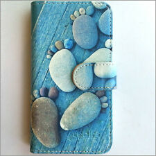 Brand new Stone feet wallet Flip case cover for Samsung/iphone/Nokia/HTC