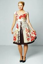 NATURAL SUMMER FLORAL DRESS CONVERTABLE 10 12 14 16
