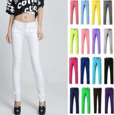 Candy Colour Women's Casual Stretch Pencil Long Pants Slim Skinny Jeans Trousers