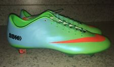 NEW Mens 12.5 NIKE Mercurial Vapor IX FG Green Blue Soccer Cleats Futball Boots