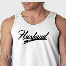 Husband Since 2015 Tee Marriage Humor Groom Wedding  Men's Tank Top