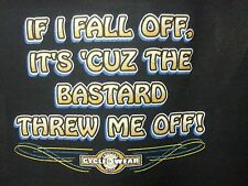 If I Fall Off-Bastard Threw Off ! Wild Motorcycle Bike Hog Bar Biker Tee ,,'