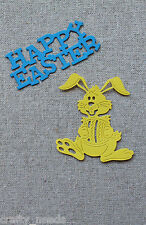 5sets -  Easter BUNNY, Rabbit  Die Cuts Toppers, Embellishments