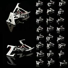 Fashion A - Z Novelty Customized Initials Letters Stainless Steel Cuff Links