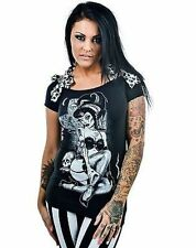 Too Fast Annabel Bow Remember Billy Punk Rock Gothic Emo Skull T Shirt S-Xl