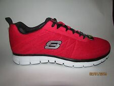 Mens Skechers Synergy-power switch red/black  with memory foam