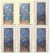 MULTI COLOUR Birthday Age DOORWAY DANGLERS {Amscan} (Party/Decoration)