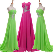 ❤CHEAP❤ Evening BEADED Bridesmaid Dress Long Prom Dresses Formal Party Ball Gown