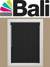 "Bali BLACK PVC Vinyl Vertical Blinds YOU PICK THE WIDTH x UP TO 84"" Long"
