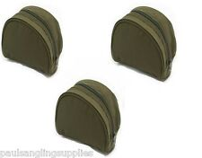 Padded Green Fishing Reel Cases / Bag For Carp Pike Sea Fishing Tackle