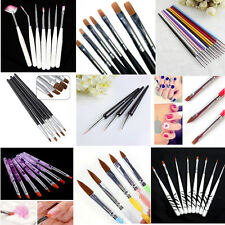 3-20 pcs Acrylic UV Gel Nail Art False Tips Builder Drawing Painting Brush Pen