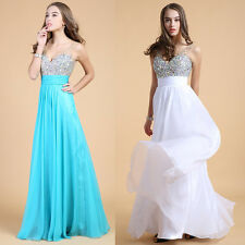 2015 New Crystals Evening Dresses Formal Prom Quinceanera Ball Gowns PLUS Size
