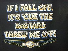 If I Fall Off-Bastard Threw Off ! Wild Motorcycle Bike Hog Bar Biker Tee +