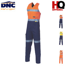 HiVis Cotton Action Back Overall with 3M R/T Sleeveless Safety Workwear 3857 dnc