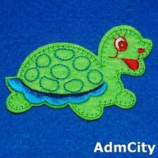 Turtle Sea Animal Embroidered Iron Sew on Patch Applique Cute Baby Badge Nature