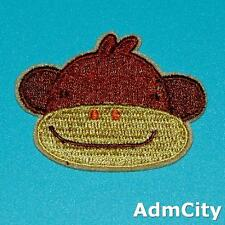 Cow Monkey Iron Sew on Patch Applique Badge Embroidered Cute Baby Animal Jungle