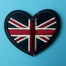 Union Jack Britain Uk Flag Iron on / Sew on Embroidered Badge Patch Sewing Heart