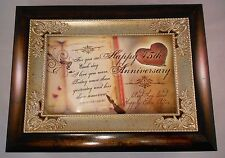 Beautiful Anniversary Gift Music Box, Choose Your Year! Plays Unchained Melody