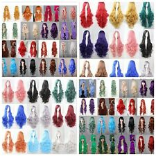 """Long 30"""" /75cm Heat-resistant Curly Wavy Hair Wig Cosplay Party Wigs 27 Colors"""