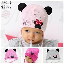 NEW Girls Hats Toddler Beanie Spring Cotton Kids Lace Up Cap Stretchy Floral Bow