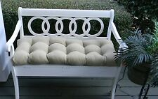 Tan Solid Tufted Cushion for Bench~Swing~Glider, Choose Size