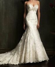 Sexy Mermaid white/ivory lace Bridal Gown Wedding Dress 6 8 10 12 14 16 18