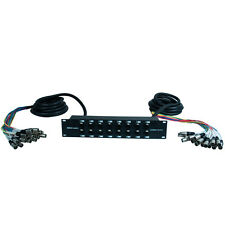 XLR TRS Rack Splitter Snake Cable - 16, 24, 32 Channel - 15' + 15' or 15' + 30'