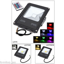 20W LED Flood Light IP65 Outdoor Garden Yard RGB/Warm/Cool White Ultrathin Lamp