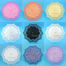 Handmade Battenburg Lace Parasol Floral Wedding Bridesmaid Bridal Photo Umbrella