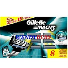 NEW GENUINE GILLETTE MACH 3 M3 SHAVING BLADES RAZORS CARTRIDGES  2 3 4 6 8 *****